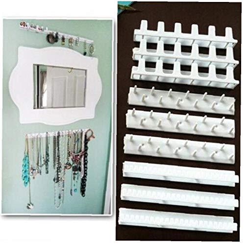 Odoukey Autoadhesivo joyería Adhesiva de visualización Ganchos de Pared para Colgar el Estante plástico 9pcs