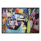 YALUO La Famosa Pintura de Picasso Pesca Nocturna en los Antibes Pinturas de Lona Fotos de Arte de la Pared para la decoración de la Sala de Estar (sin Marco)