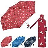 Bisetti - Clima Paraguas Plegable Automático | Paraguas Antiviento Pequeño y Compacto Ideal para Viajes, Hombre y Mujer, Rojo