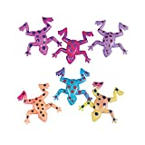 Fun Express Sticky Stretchy Frogs Toys - Bulk Set of 48 - Party Favors, Giveaways, Easter Basket Fillers and Novelty Toys