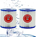 XIAOBUDIAN Para Cartuchos De Filtro De Piscina Intex Tipo H Para Limpieza De Reemplazo Para Intex 29007 -Tipo H Para Bombas De Filtro 28601, 28602 (2PCS)