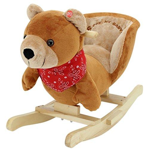 Sweety-Toys 5178 Schaukeltier Schaukelbär Teddy Teddybär sehr edel super süss