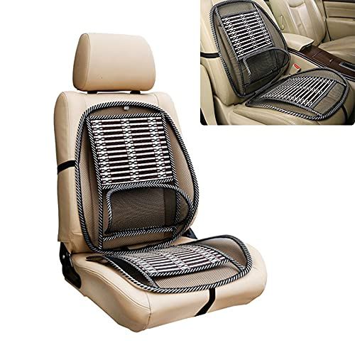 Ergonomic Bamboo Car Seat Pad,Car Massage Bamboo Cushion, Ventilation Seat Cushion Non-Slip Massage Seat Covers, Bamboo Seat Cushion for All Types Car Seats (1 pc)