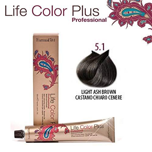 FarmaVita Life Color Plus Haarfarbe 100ml 5.1 Hellbraun Asch