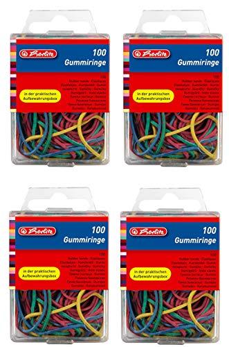 5 Star Office 700304 Gummiringe im Polybeutel 1000 g /Ø 50 mm Pack rot