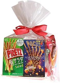 グリコ スティック菓子 ポッキー&プリッツ(5種・計5コ)食べ比べセット ラッピングver プチギフト