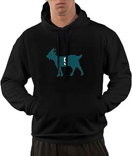 Men's Funny Drew-Brees -Goat Hooded Sweatshirt Black