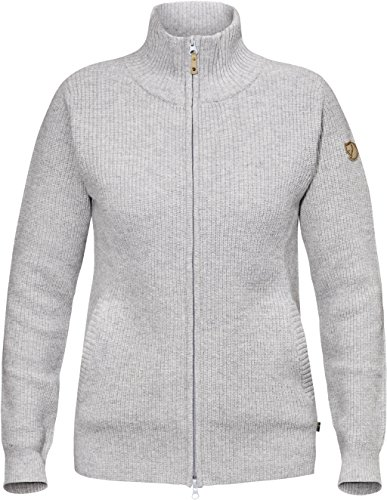 FJÄLLRÄVEN Damen Övik Zip Cardigan W Strickjacke, Light Grey, S
