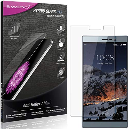 SWIDO Panzerglas Schutzfolie kompatibel mit Switel eSmart M3 Bildschirmschutz Folie & Glas = biegsames HYBRIDGLAS, splitterfrei, MATT, Anti-Reflex - entspiegelnd