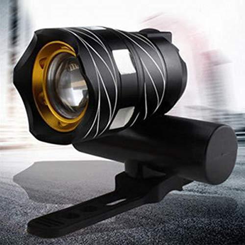 LYEAA Fahrradlicht Set,T6 LED Fahrradbeleuchtung Set Zoomable Mountainbike Nacht Radfahren Schwanz Hinten Scheinwerfer USB Wiederaufladbar Wasserdicht Warnung Rücklicht Radfahren Zubehör