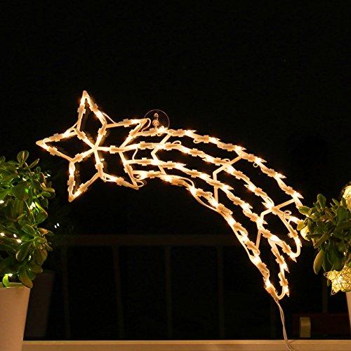 Fenster-Silhouette Weihnachten 50cm Weihnachtsdeko Fensterbilder Beleuchtet Weihnachtsbeleuchtung innen Fensterdeko zum aufhängen
