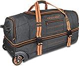 normani Reisetasche mit Rollen und großem Stauraum - mit Trolley-Funktion Farbe Orange Größe 90...