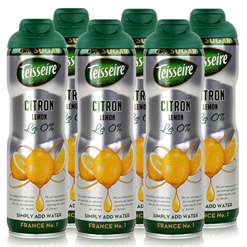Teisseire Getränke-Sirup Lemon/Zitrone 0% - 600ml - Sirup der genauso schmeckt wie die Frucht (6er Pack)
