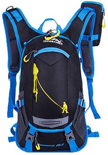 newzcers 20L Casque de vélo Unisexe Sac à Dos en Nylon imperméable sac à dos Outdoor Riding Pack Sacoche vélo, avec un Téléphones multi-fonctions Paquet, bleu