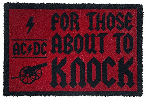 1art1 AC/DC - For Those About To Knock Felpudo Alfombra (60 x 40cm)