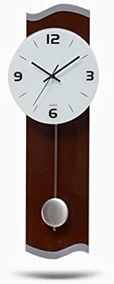 Ysayc Wall Clock Living Room Bedroom Personalized Decorative Wall Clock Modern Mute Pendulum Wall Clock ,