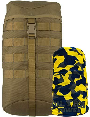 Wisport Seitentasche 7,5L | Tasche für Backpack | Rucksack taktisch | Expeditionsrucksack | Jagdrucksack | Cordura | RAL-7013 I Crafter, Wildcat, Whistle, Raccoon 85, 65, 45 | + UP Halstuch