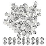 Diamante plano, Diamante redondo de resina Diamante de imitación Accesorios de diamante de 12 mm para colgantes de collar para decoración de llavero