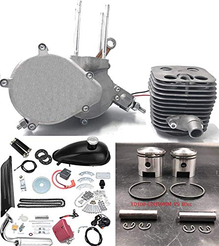 CDHPOWER 2 Stroke Gas Bicycle Engine kit YD100 CDH50mm Unassembled Gas Motor Kit-Gas Motorized Bicycle YD100-CDH 79CC/80CC Engine Kit