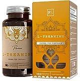 FS L Teanina Pura [300 mg], Nessun riempitivo o legante | 180 capsule naturali vegane | Calma nootropica, integratore essenziale per il rilassamento | Senza additivi — Senza OGM, glutine e latticini