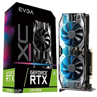 EVGA GeForce 08G-P4-3183-KR, RTX 2080 Super XC Ultra, Overclocked, 2.75 Slot Extreme Cool Dual, 70C Gaming, RGB, Metal Backplate, 8GB GDDR6