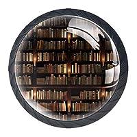 引き出しハンドルは、ホームキッチンドレッサーワードローブライブラリ用の丸いクリスタルガラスを引っ張る2階建てのブックシェル