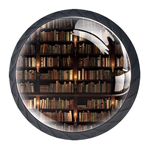 HEOH Tirador de manijas de cajón para el hogar, Cocina, tocador, Armario,Biblioteca Biblioteca de Dos Pisos