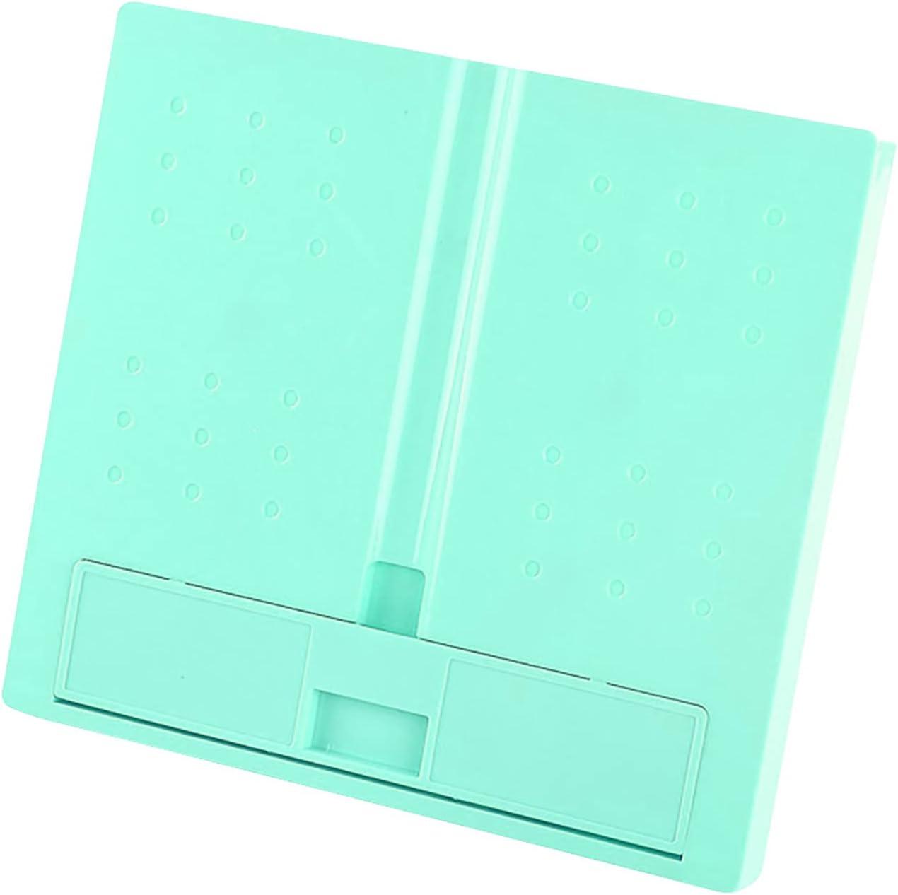 Portable Plastic Book Stand Foldable Book Document Holder Adjust