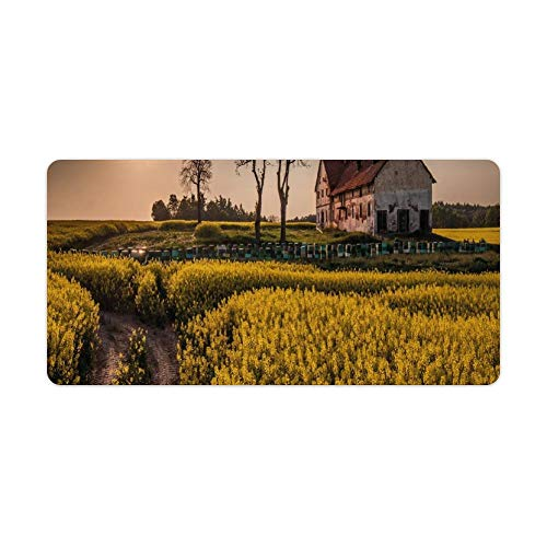 Extended Gaming Mouse Pad with Stitched Edges Large Keyboard Mat Non-Slip Rubber...