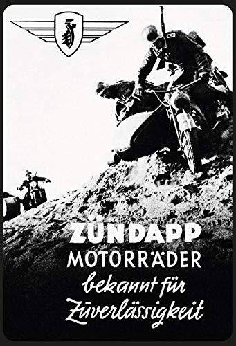 Schatzmix Retro Zündapp Motorfiets (Soldat) Metalen bord Deco 20x30 tin Sign blikken bord, blik, meerkleurig, 20x30 cm