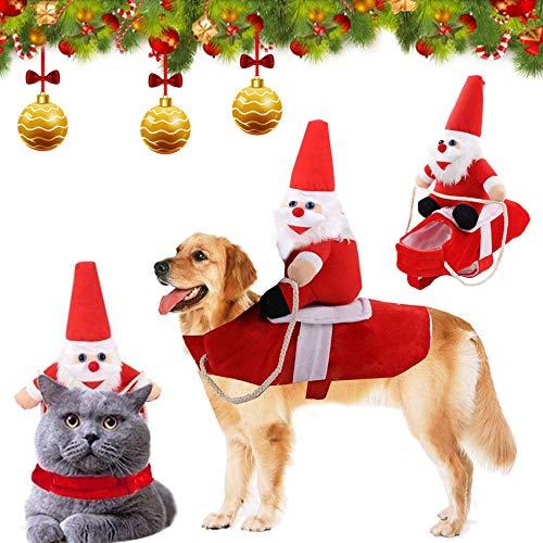 Disfraz de Navidad para Mascotas,Perro Navidad Disfraz,Ropa navideña para Perro,Disfraz de Navidad para Cachorro,Ropa para Mascotas de Navidad,Disfraz de Gato Navidad (M)