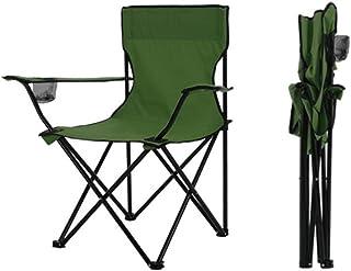 HSBAIS アウトドアチェア キャンプ椅子イス 携帯便利 レジャーチェア 折りたたみ キャンプ用品、超軽量 コンパクトイス、カップホルダー 耐荷重150kg、ハイキング 釣り 登山,Green_50x50x80cm