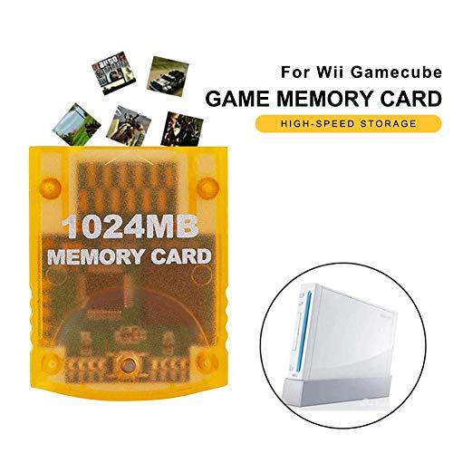 Wii-Speicher Hochgeschwindigkeitsspiel-Speicherkarte 1024 MB Hochgeschwindigkeits-Spielspeicherkarte für Wii Gamecube