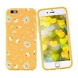 Idocolors Funda para iPhone X/XS Suave TPU Gel Carcasa Protección Antigolpes y Caídas Margarita Lindo Funda Anti Arañazos para iPhone X/XS - Amarillo