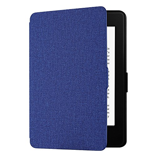 EasyAcc Custodia per Kindle Paperwhite - con Sonno/Sveglia la Funzione Compatibile con Kindle Paperwhite 2012/2013/ 2015, Blu Navy (Non è Compatibile con la Versione 2018 di Kindle Paperwhite)