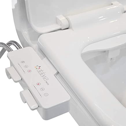 Bidet Attachment, Atalawa AW221 Slim Design Non-Electric Mechanical Bidet Toilet Attachment with Dual Self Cleaning Nozzle Sprayer, Fresh Water Spray, Easy to Install (Hot and Cold)