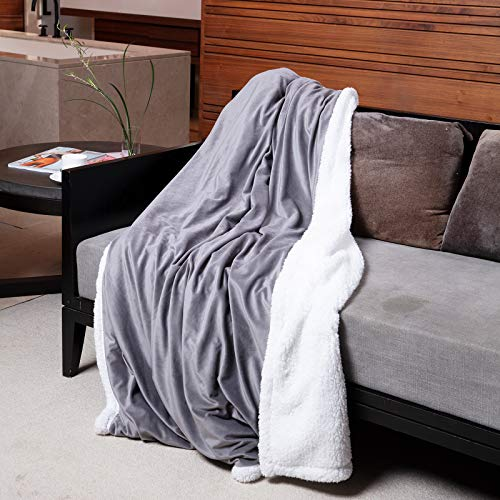 FLINCOUS Electric Heated Throw Blanket, Flannel Fleece &...