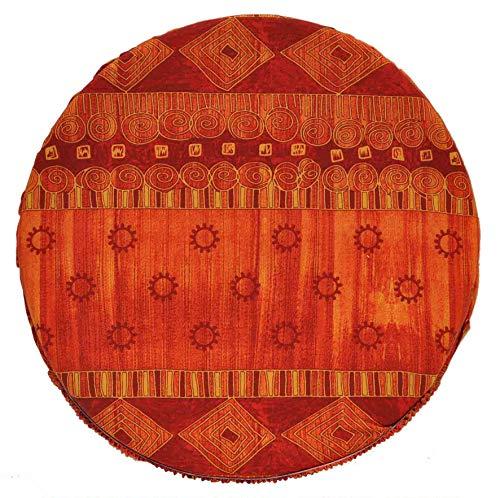 CASA TESSILE Sequoia Housses de chaises avec Ceinture Coussin Rond - Beige