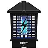 Hoont Powerful Electric Indoor Outdoor Bug Zapper with UV Light Trap – 1-1/2 Acre Coverage Fly Killer, Insect Killer, Mosquito Repellent Killer for Residential, Commercial, Industrial Use [Upgraded]
