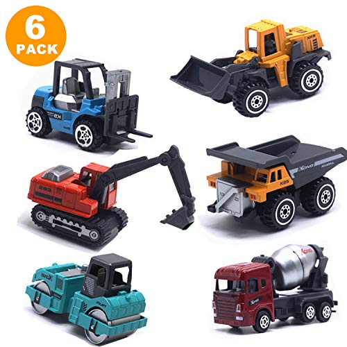 Kids Christmas Birthday Gifts,Construction Trucks,Kids Construction Toys,Mini Engineering Car Toys Set Alloy Kids Boys Toys Cake Decoration, Boys and Girls as Gift (Multicolor)