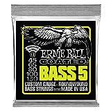 Ernie Ball Bass 5 cordes pour basse électrique Slinky Coated - Calibre 45-130