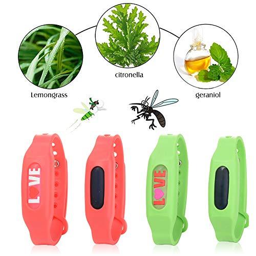 SEGMINISMART Bracelets Anti Moustique, Premium Bracelets Anti-moustiques,Anti Moustique Waterproof pour Bébé, Enfants Et Adultes, Anti Moustique, La Protection Longue Extérieure Et Intérieure
