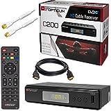 HB di Digital Set: Opticum HD C200HD Ricevitore per TV via cavo digitale (HDMI, Scart, U...