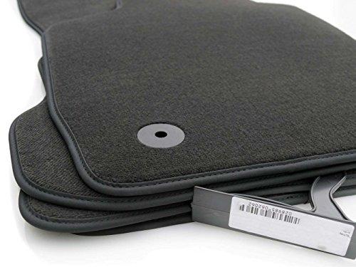 kh Teile Fußmatten/Velours Automatten Original Qualität Stoffmatten 4-teilig anthrazit