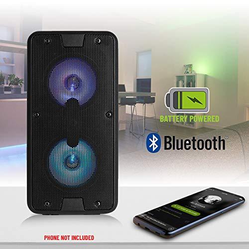 Fenton SBS65 - Enceinte Active Bluetooth à LED, Puissance 50W, LEDs en façade, idéale pour Les...