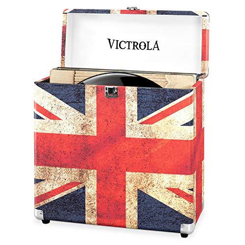 Victrola Custodia Valigia porta vinili 30+ pezzi LP - UK Flag