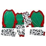 Cute Family Pajamas Set Fashion Letter T-Shirt and Christmas...