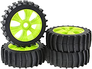 JIUWU RC Off Road 1:8 Buggy Snow Sand Paddle Tires Tyre 6 Spoke Wheel for HSP HPI Green