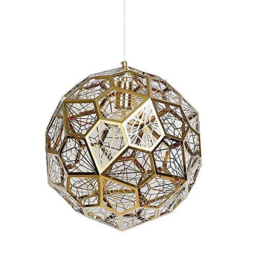 YB Moderne kreative Deckenpendelleuchte Gold Runde Hängeleuchten Ball Design Hängelampe E27 Flamme Indoorlamp Geeignet Club Bed Hotel Home Office & Phi; 40 cm