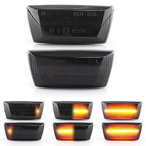 LIGHTDELUX Ersatz für LED Blinker Seitenblinker Blinkleuchte Dynamisch Laufblinker mit E-Prüfzeichen Black Vision V-171902LG